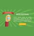 beer festival poster or flyer template vector image