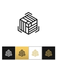 Block or cube 3D structure icon vector image vector image