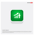 business man with growing graph icon green web vector image