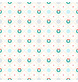 christmas seamless pattern with christmas wreath vector image vector image