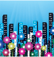 city with flowers vector image vector image