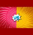 comic bright explosive duel concept vector image vector image
