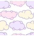 cute hand drawn cartoon cloud sun and rainbow vector image