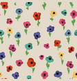 cute small flowers seamless pattern vector image vector image