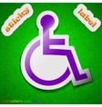 Disabled icon sign Symbol chic colored sticky vector image vector image