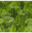 exotic green palm leaves seamless pattern vector image vector image