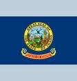 flag usa state idaho vector image