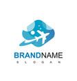 flying plane for travel logo design template vector image vector image