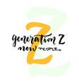 Generation z - internet generation concept new