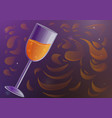 glass of champagne concept banner cartoon style vector image