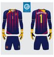 goalkeeper jersey template design vector image