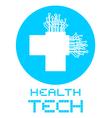 Health tech vector image
