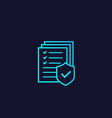insurance icon with gradient vector image vector image