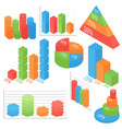 isometric of business and vector image vector image