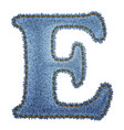 Jeans alphabet denim letter e vector | Price: 1 Credit (USD $1)