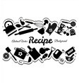 Kitchen icons set of tools vector image vector image