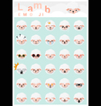 Lamb emoji icons vector image
