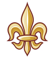 lily flower - heraldic symbol vector image
