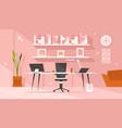 modern boss workplace vector image
