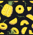 natural seamless pattern with whole and cut fresh vector image