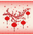 new year red lantern on colorful background vector image vector image