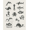 ocean and sea fishes vector image