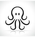 octopus icon design vector image vector image