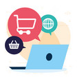 online shopping design vector image vector image