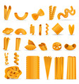 pasta icon set cartoon style vector image