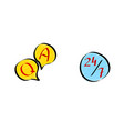 question answer online customer service 247 vector image vector image