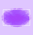 rectangle line white on abstract purple soft vector image vector image