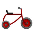 red tricycle icon cartoon style vector image