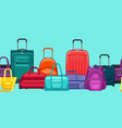Seamless pattern with travel suitcases and bags