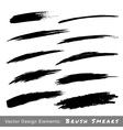 Set of Hand Drawn Grunge Brush Smears vector image