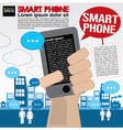 Smart phone communicated conceptual vector image vector image