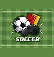 soccer tournament concept vector image vector image