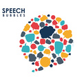 speech bubbles communication vector image