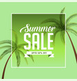 summer sale background with palm tree vector image vector image