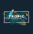 tropical background 5 vector image vector image