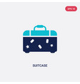 two color suitcase icon from blogger and vector image vector image