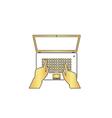use laptop computer symbol vector image