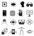 Virtual reality icons set vector image