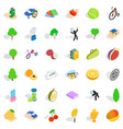 vitality icons set isometric style vector image vector image