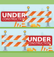 Website improvement under construction flat icon vector image