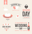 Wedding set of label badges stamp and design vector image vector image