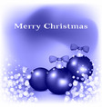 card of merry christmas vector image