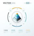 pyramid infographic template design vector image