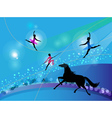 circus trapeze artists vector image