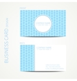 Doodle creative simple business card template with vector image