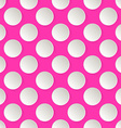 Flat cute circles in vintage style vector image